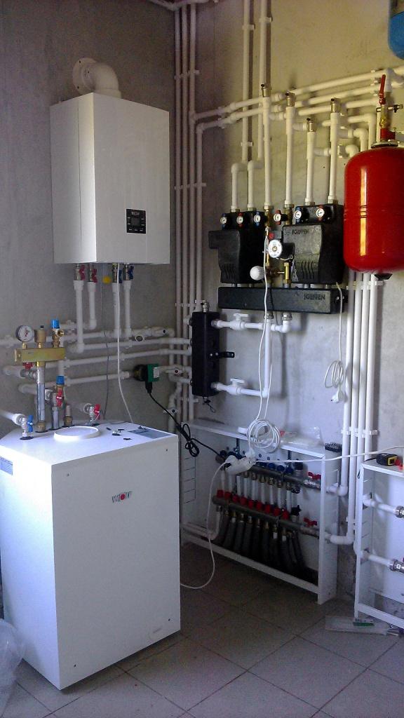 [Монтаж системы отопления. Фото установленной системы отопления1.]