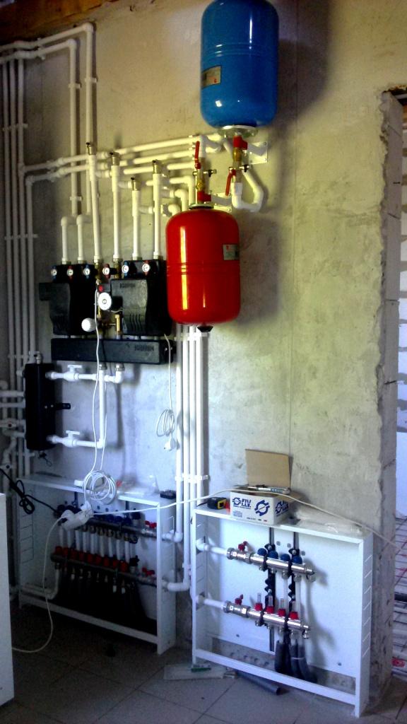 [Монтаж системы отопления. Фото установленной системы отопления3.]
